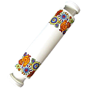 Psychedelic 1970s Lord Nelson Gaytime Pattern Ice Water Fillable Rolling Pin