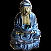 SOLD Large Vintage Pottery Buddha Incense Burner