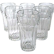 Six Sturdy Vintage Hazel Atlas Soda Glasses