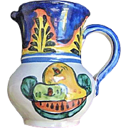 Mexican Pottery Creamer / Pitcher from Amora Talavera in Dolores Hidalgo