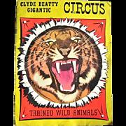 1951 Clyde Beatty Circus Program w. Coca-Cola, Kaiser, Frank Sinatra