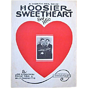 Framed Hoosier Sweetheart Sheet Music 1927 Carroll & Grady