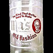 "SALE Ma's Old Fashion Soda Pop Bottle 1944 Pennsylvania ""Ma Knows Best"""