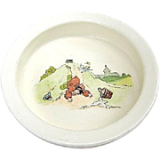 Royal Winton Grimwades Victorian Child's Jack and Jill Plate / Bowl