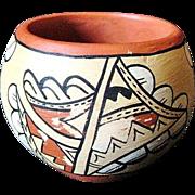 Vintage Jemez Pueblo Native American Indian Pot by G. Slivers