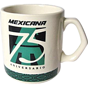 Mexicana Airlines 75th Anniversary Commemorative Coffee Mug