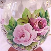 Occupied Japan Porcelain Floral Pattern Lamp