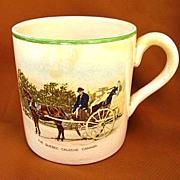 1930s - 1940s Bovey Pottery Quebec Caleche Canada Souvenir Cup Mug