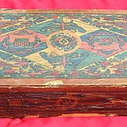 Early 1900s Chinatown Firecracker Box  w/ Butterflies & Flowers- Chinese New Year