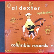 Al Dexter Songs of the Southwest 1947 Columbia 78 rpm Record Set Pistol Packin' Mama