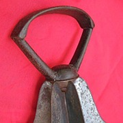 19th Century Six-Blade Bell Food Chopper with Cast Iron Handle