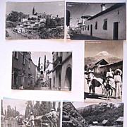 6 Vintage Mexican Real Photo Postcards Cuernavaca Popocatepetl Xochimilco Yanez RPPC