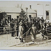 1930s RPPC Real Photo Postcard of Dr. Locke's Patients Awaiting Care