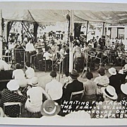 1930s RPPC Real Photo Postcard Famous Dr. Locke Under His Williamsburg Tent