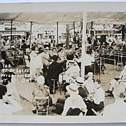 1930s RPPC Real Photo Postcard Under Dr. Locke's Clinic Canopy