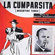 La Cumparsita Argentine Tango Sheet Music 1937 Rodrieyez & Castillo