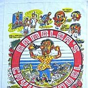 Vintage Humorous Gambler's Crying Towel Las Vegas