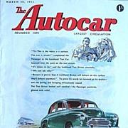 British Auto Magazine The Autocar 20 March 1953 Vol. XCVIII No, 2990 Lockheed
