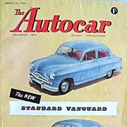 British Auto Magazine The Autocar 10 April 1953 Standard Vanguard
