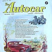 British Auto Magazine The Autocar 17 April 1953 Lockheed