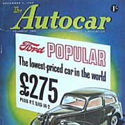 British Auto Magazine The Autocar 4 December 1953 The Ford