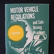 Quaint 1950s Motor Vehicles Regulations Driving Guide Dept. of Interior