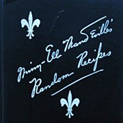 Rare 1940 Southern Cookbook Random Recipes by Minn-Ell Mandeville