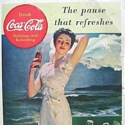 1939 Coca Cola Magazine Ad The Pause That Refreshes & Buddy Rich Old Drum Whiskey Ad