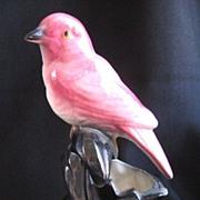 Vintage Modernist Ceramic Pink Bird Planter