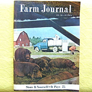 Farm Journal July 1951 Tippecanoe County Indiana Hogs Cover