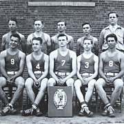 1950s Oregon High School Basketball Team Photo Imbler OR