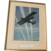 Bertram SANDY listed gouache of British Handley Page bomber.