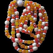 CASTLECLIFF- Yummy  Vintage  Glass Necklace