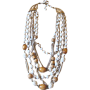 ART- signed multi-strand  vintage necklace