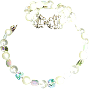 Vintage signed Marvella bracelet and necklace