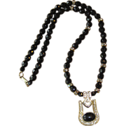 HOBE- Super Vintage Pendant Roundel  Necklace