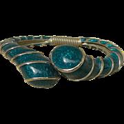 KENNETH LANE- signed clamper bracelet