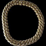St John- Status Gold Tone Designer Vintage Necklace