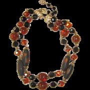 Vendome- Stunning Unique Glass Beaded Vintage Necklace