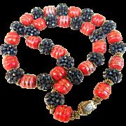 ORIGINAL BY ROBERT-  signed super beaded vintage necklace