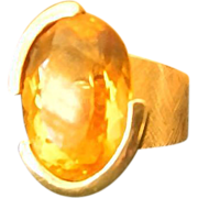 Topaz  and 14 k  large cocktail ring