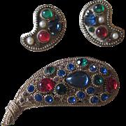 Nina Ricci  Paris Vintage Brooch and Earrings
