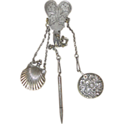 Antique Chatelaine Sterling Attachments- Unique and Super