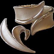 Trifari- Signed Vintage Clamper Bracelet and Brooch