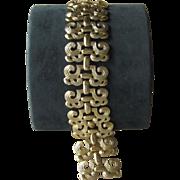 Cacharel- Vintage Designer Couture Signed Chunky Bracelet