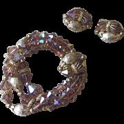 Vendome-  Unique Vintage Bracelet and Earrings.