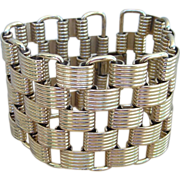 Tire Tread Wide Vintage Bracelet