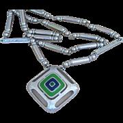 Castlecliff - Vintage signed Moderne Sleek Pendant necklace