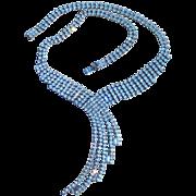 Quality Vintage Rhinestone Waterfall Necklace
