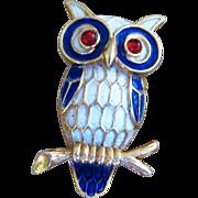 Trifari- Vintage Owl Brooch